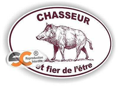 Sticker Chasse Chasseur Autocollant Chass001
