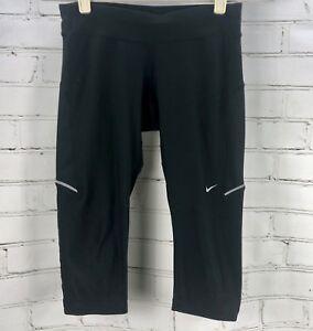 promesa Buzo rango  NIKE Running Filament Capri Leggings Women's XS Black 519841 Dri-Fit | eBay