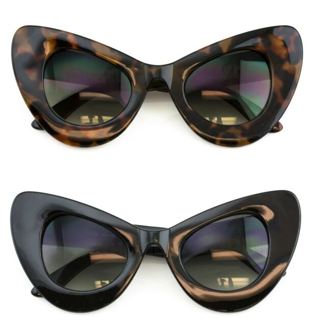 Black Cat Eye Sunglasses Retro Classic Vintage Design Women's Fashion Shades