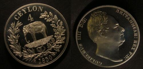 1830 Ceylon Large Nickel Fantasy 4 Rixdollar Pattern Elephant//William