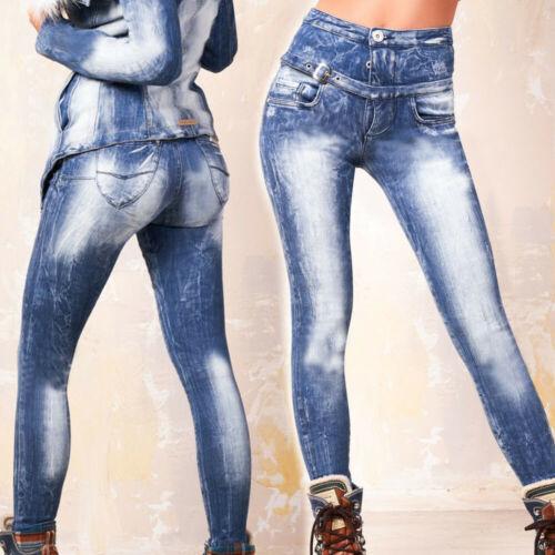 FOGGI Damenjeans Jeans Damenhose Röhrenjeans High Waist Hüftjeans 34-38 #F632