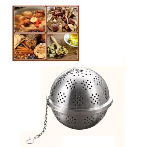 Infusore Colino per tè Mesh Cucchiaio Filtro di bloccaggio Spice a sfera in acciaio inox
