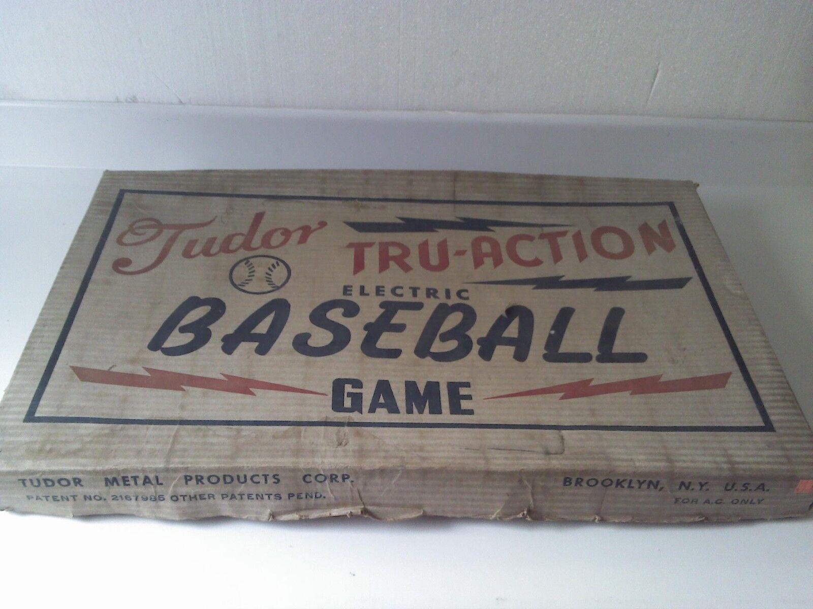 Vintage 1950 Tudor Tru-Action Electric Baseball Game Brooklyn Excellent Shape