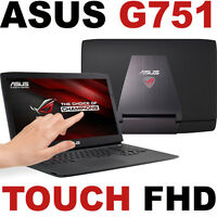 Touch Nvidia Gtx Asus G751jm 17.3 Full Hd Quad I7-4710hq Laptop G751 Rog Sale