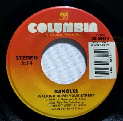 The Bangles Walking Down Your Street Let It Go 45