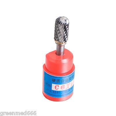 "C6*10mm Cylindrical Cut Tungsten Carbide Burr Bur Cut Tool Die Grinder Bit  1//4/"""