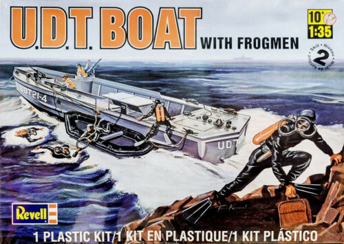 U.D.T Taucher UDT NAVY SEAL 1:35 Model Kit Revell 0313 Boat with Frogmen Boot