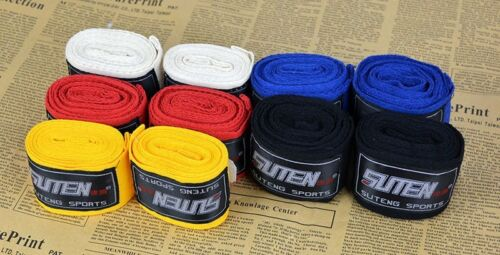 2Pcs Boxing Gloves MMA Bandage Fighting Sanda Strap Cotton Hand Wraps Handwraps