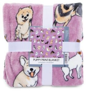 Super-Soft-Puppy-Throw-Blanket-50-039-039-x-60-039-039