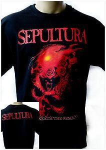 SEPULTURA SCHIZOPHRENIA 1987 White New T-shirt Rock T-shirt Rock Band Shirt