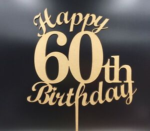 Image Is Loading 1Pc Laser Cut Cake Topper Happy 60th 60