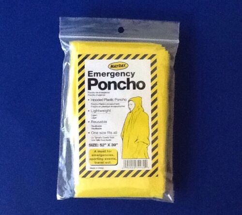 Travel,band,sporting Events Yellow Lot of 25 Emergency Hooded Poncho