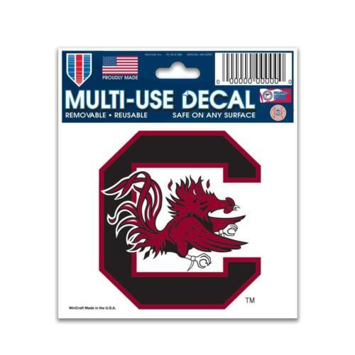 "Cling Car Truck Sticker NEW South Carolina Gamecocks 3/""x4/"" Multi Use Decal"