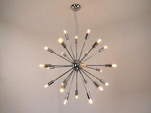 Dettagli su lampadario moderno vintage led cromo camera da letto salone  sala da pranzo bagno