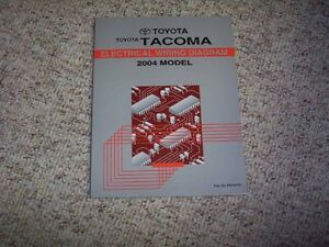 2004 Toyota Tacoma Truck Electrical Wiring Diagram Manual ...
