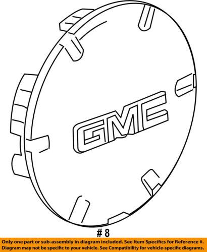 "2010-2016 GMC TERRAIN CHROME CENTER WHEEL HUB CAB FOR 19/"" WHEELS NEW GM  9597571"