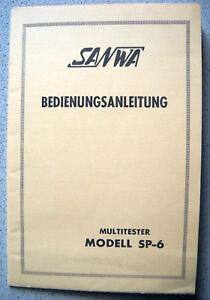 SANWA-SP-6-Multitester-Multimeter-User-Manual-Bedienungsanleitung