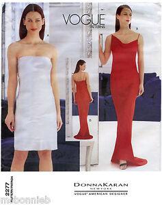 Image Is Loading Vogue 2277 Donna Karan Ny Dress In 2