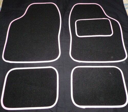 Car Mats Black with White trim mats for HONDA CIVIC ACCORD JAZZ CR-V LEGEND