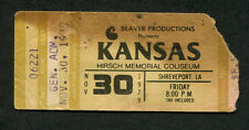 1979 Kansas Concert Ticket Stub Shreveport LA Dust In The Wind Monolith
