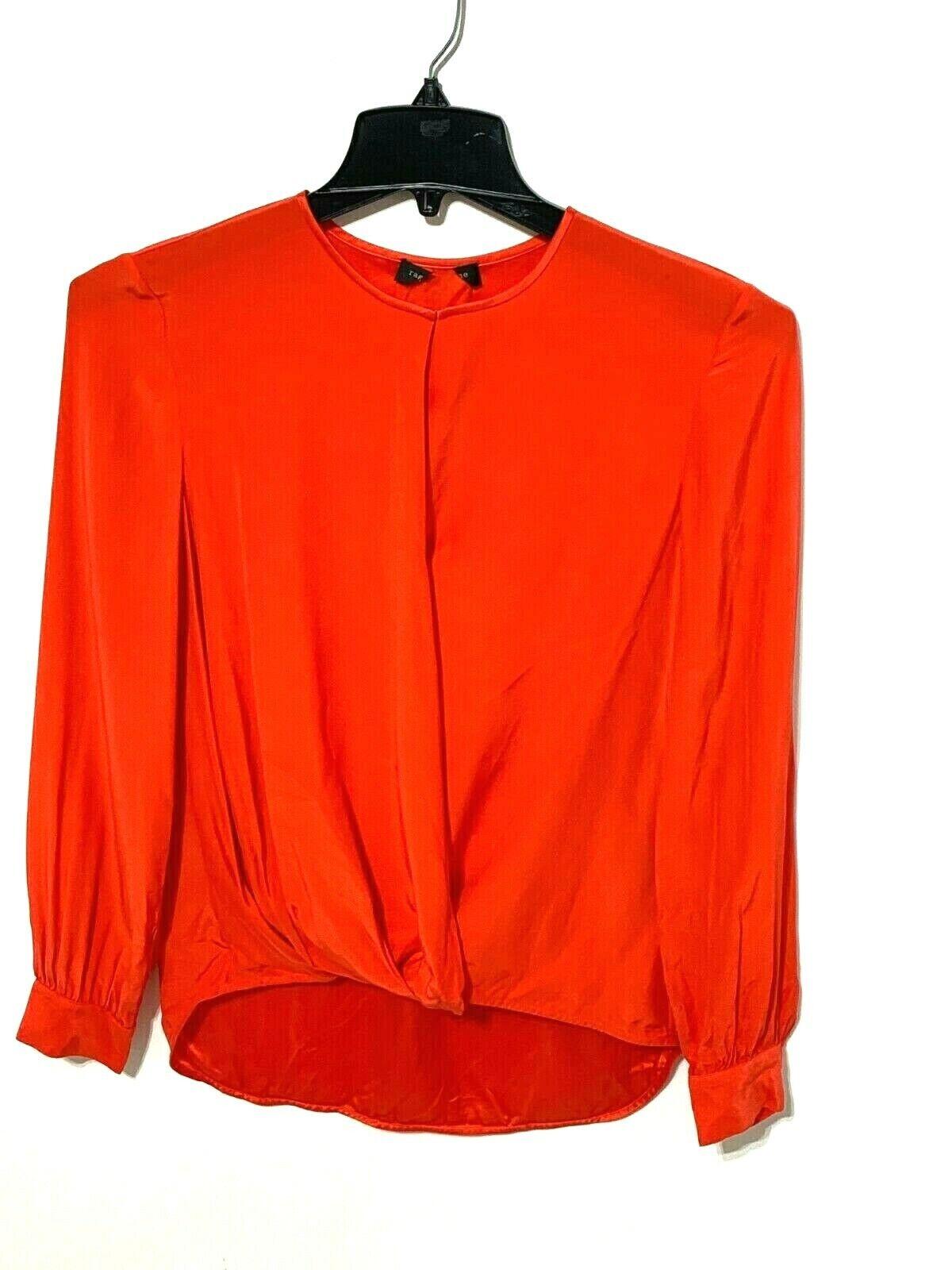 Rag and bone Lora silk blouse Retail $350 Orange… - image 1