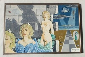 CLAUDE-BENARD-1926-2016-huge-original-signed-oil-painting-surrealist-masterpiece