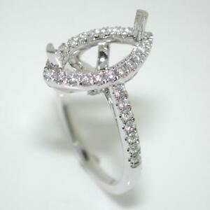 Halo-Engagement-Ring-Setting-For-A-Marquise-Cut-With-0-52-Ct-Diamond-Accents-14k