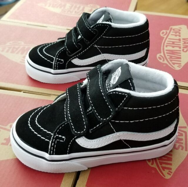 176c925d176 VANS SK8-MID REISSUE SUEDE CANVAS VN00018W6BT BLACK WHITE TODDLER US SZ 6