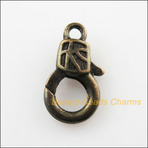 10Pcs-Square-Lock-Lobster-Clasps-Connectors-Antiqued-Bronze-Plated-10x17mm