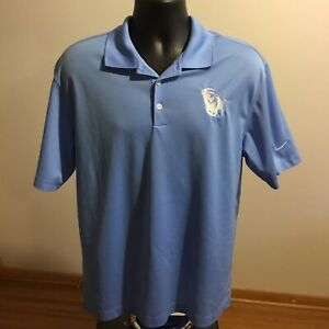 b37cb315dd8c1 Details about Nike Golf Dri-Fit Baby Blue Short Sleeved Polo Shirt Mens  Medium EUC
