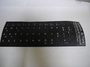 Tastaturaufkleber-Aufkleber-3M-Notebook-Tuerkisch-Matt-auf-schwarzen-Hintergrund