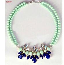 Women Round Bead Charm Bib Collar Choker Chain Necklace