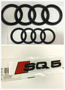 Audi-SQ5-Front-Rear-Emblem-Full-Set-Gloss-Black-Badge-For-Audi-Q5-SQ5