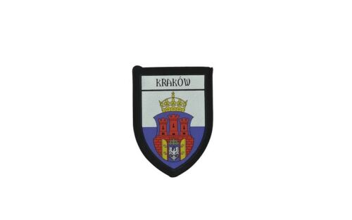 Patch Embroidered Thermoadhesive Printed Coat of Arms City Flag Krakow Poland