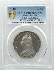 1887-British-Victoria-Jubilee-Head-Silver-Proof-Half-Crown-Coin-PCGS-PR65-DCAM