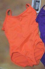 NWT Camisole Leotard Frontlined Neons & Purple child/ladies v back ballet 86001