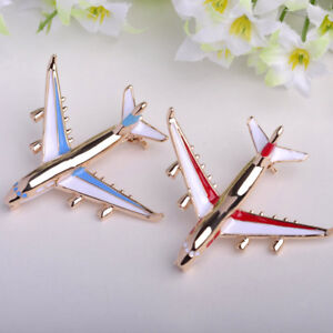 Aircraft-Airplane-Jet-flight-Brooch-Pin-Fun-Badge-Collar-Lapel-Women-Men-Jewelry