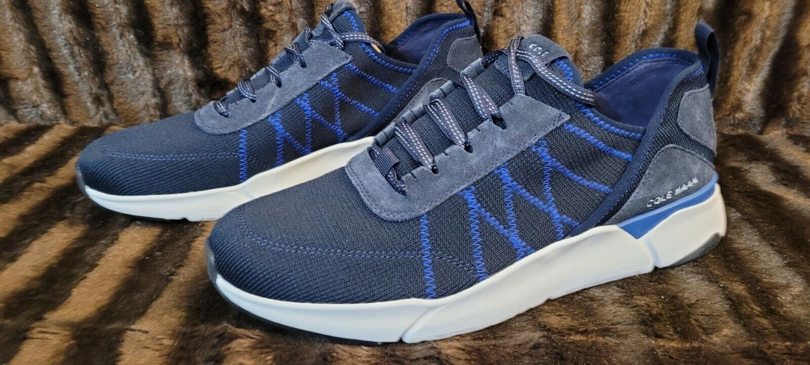 NEW Cole Haan Grand Sport Blue Knit Trainers Men's Size 11.5 ⭐⭐