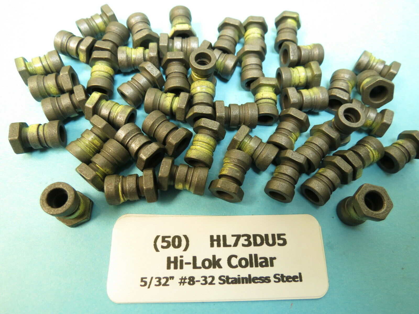 25 HST1094UHWU5 Hi-Lok Stainless Steel Collars for 5//32 Pins Aircraft Aerospac