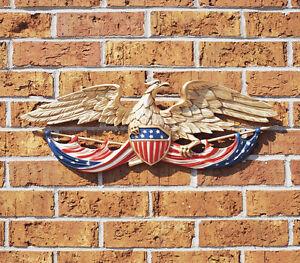 Wall-Eagle-Bald-American-Patriotic-Figurine-Statue-Indoor-Outdoor-Decor-Patio