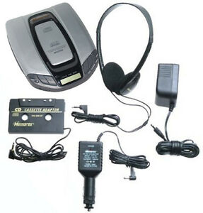 Memorex-MD6400-Anti-Shock-Portable-CD-Player-with-AC-DC-Car-Kit-Cassette-Adapter