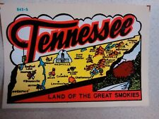 Vintage Travel Decal Replica Window Cling Tennessee