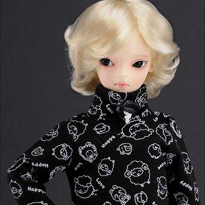 DM 1//4 BJD MSD Wig 18-20 cm 7-8 inch Junsa long curl Wig D.Blond