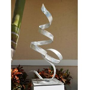 Silver Metal Sculpture Ultra Modern Garden//Indoor Yard Art   Original Jon Allen