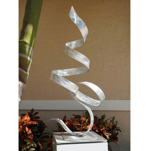 Jon Allen Metal Modern Garden Sculpture Yard Art Silver Indoor Outdoor Decor