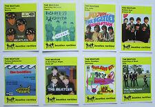 Set of 8 BEATLES RARITIES trade cards - YELLOW 'Rare Global Versions' series