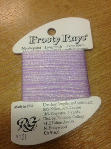 Frosty rayons rainbow gallery fil fibre broderie soie cross stitch 102-221