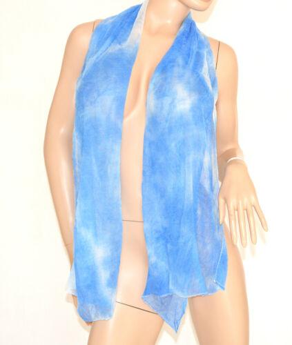 FOULARD donna STOLA coprispalle Azzurro Celeste Bianco SCIARPA DA CERIMONIA 700C