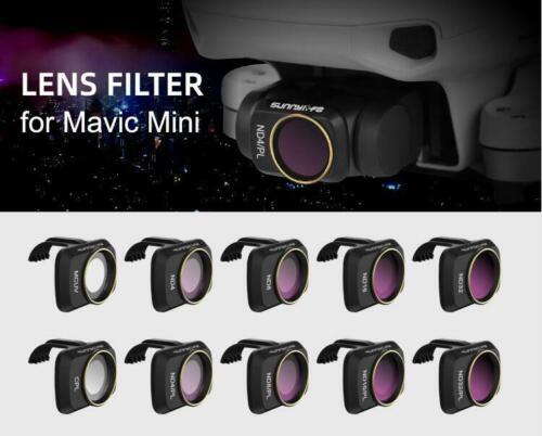 Sunnylife MCUV CPL ND//PL ND4//8//16//32 Lens Filter For DJI Mavic Mini Gimbal Lens