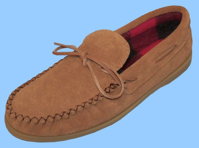 New Uomo size 7 DARK TAN SUEDE LEATHER SHOES-LOAFERS-DRIVING-BOAT-MOCCASINS